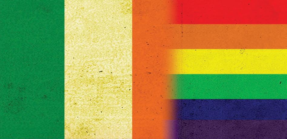 Ireland LGBT rights flag