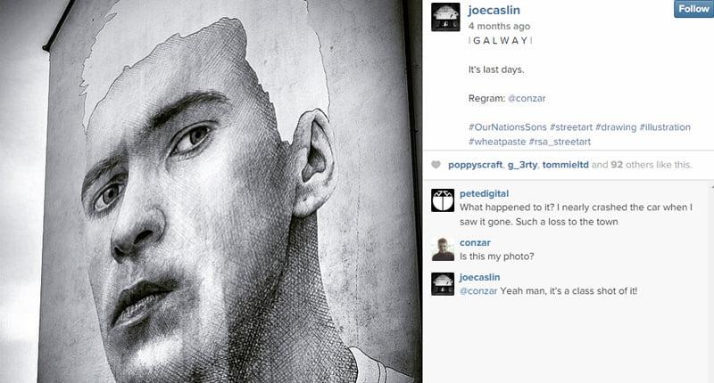 Joe Caslin - Galway Artwork  (Image: Instagram @JoeCaslin)