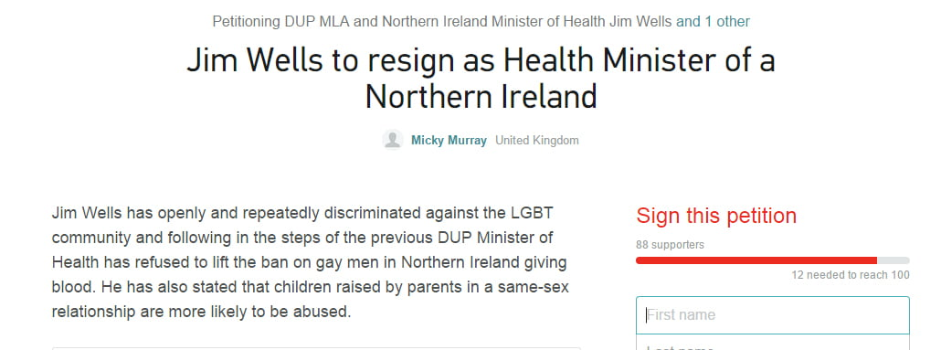resignation of northern ireland health minister