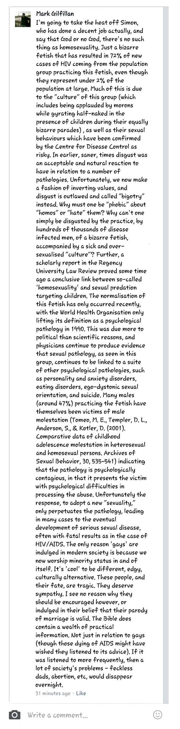 university of ulster coleraine homophobic university research associate