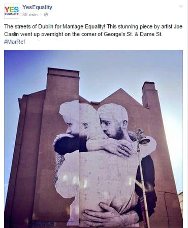 Joe Caslin Artwork - (Photo - Yes Equality on Facebook)