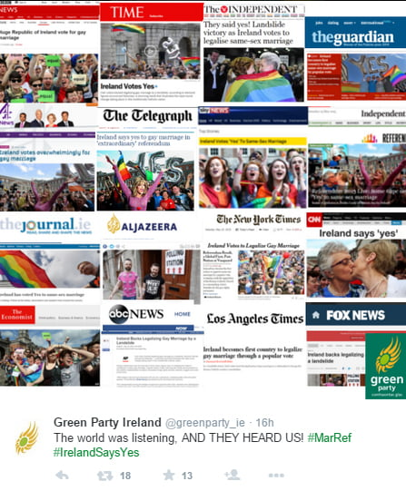 1111 ireland marriage equality referendum front page headlines