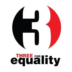 3 FOR EQUALITY LOGO