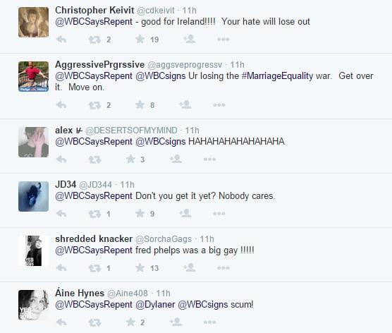 Responses to wbc tweet