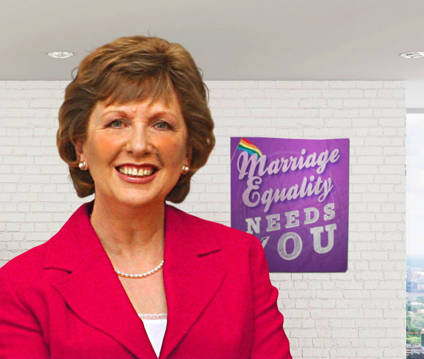 Former Irish President Mary McAleese joined the debate for the first time last month.